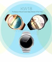 Wholesale Cheap Wholesale Sim Cards - Cheap KW18 Smart Watch Bluetooth Heart Rate Monitor Intelligent smartWatch Support SIM TF Card for apple samsung Phone with retail box