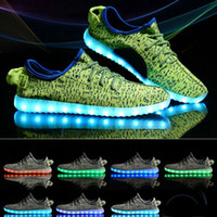 Wholesale Wholesale Fabrics For Children - LED Shoes With Lights For kids Children Adults Femme Casual Shoes LED Luminous Fashion 6 Colors Men Shoes free shipping