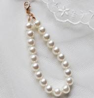 Wholesale cartoon beaded bracelets - Handmade DIY Pearl Beads Keychain Cellphone Pendant Bag Beaded Accessories As Teen Girls Bracelet Gift Wholesale Free Shipping
