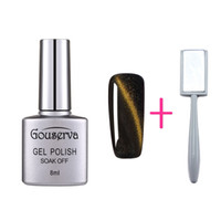 Wholesale Magnetic Nail Varnish - Wholesale- Gouserva Fashion 3D cat eye gel nail polish with a magnet for gel nail polish magnetic nail polish color gel varnish lacquer