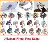 Wholesale Cute Phone Holders - Fashion Pop Stand Cute Cartoon Pictured Design Circle Finger Ring 3M holder for Iphone Universal Phone Pad Tablets 10pcs