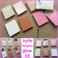 Wholesale New Strawberry Shortcake - In stock New Kylie Highlighter Cosmetics Kylighter banana split Strawberry Shortcake Candy Cream French Vanilla Cotton Candy 6colors