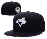 Wholesale Hats Toronto - 2017 New style Toronto Blue Jays Baseball Cap Front Logo Alternate Fitted Hats wicks away sweat Adult Sport men women Caps