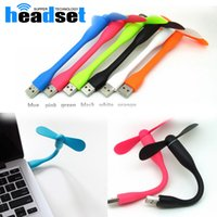 Wholesale low power laptop resale online - Cute Portable Flexible USB Fan Bendable removable USB Gadgets Low power for PC for laptop