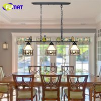 Wholesale Birds Light Fixtures - FUMAT Stained Glass Pendant Lamp Country Style Suspension Lamp Dinning Room Pendant Lamp Birds Decor Light Fixtures
