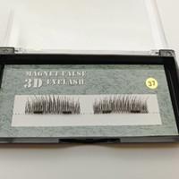 Wholesale Eyelashes False Thin - Dual Magnetic False Eyelashes 3D Reusable Fake Eyelashes 1 Pair 0.08mm Ultra Thin lashes free shipping