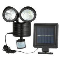 Wholesale Induction Lighting Free Shipping - Wholesale- Solar LED human body induction lamp Waterproof double induction lamp Solar garden light Free Shipping