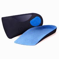 ortopedia mulheres venda por atacado-EVA Plana Pé Orthotics Arch Suporte Metade Sapato Pad Palmilhas Ortopédicas Cuidados Com Os Pés para Homens e Mulheres
