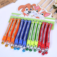 Stampa sportiva Colourful Reflect Collar Light con il cane Bell Dog Cat Nylon Adjustable Fashion Available rende Visible Safe Seen Blinking