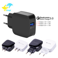 Wholesale 12v 5v Usb - QC3.0 12V 9V 5V Quick wall charger Adapter EU US fast charger 18W Fast USB Charger for Samsung Galaxy S8 S7edgeNote8 LG