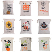 Wholesale festival foods - Halloween Christmas Gifts Bags Pumpkin Shopping Bags Festival Gifts Bag Halloween Canvas Bag 9 Style Eco Bags 36*44CM WX-B10