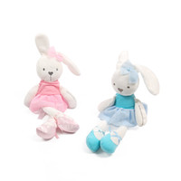 Wholesale Dolls Plush Monkey Toy - Mamas & Papas Baby Toys Cute Rabbit Sleeping Comfort Stuffed Doll Cartoon Bunny Teddy bear Plush Animals Hot Toys For Baby Gifts B1115-2