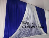 Nice Looking 3M * 6M Ice Silk Wedding Backdrop Curtain With White Fabric Drape Decoration Бесплатная доставка