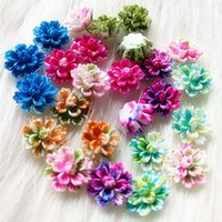 Wholesale Umbrellas Wholesale Beautiful - decoration color Tanduzi 100PCS Beautiful Mixed Color Layered Daisy Flower Resin Flowers Flatback Cabochon Scrapbooking DIY Decoration 12mm