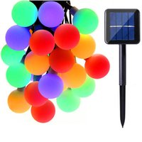 Wholesale Decoration For Patio - Solar Globe 50 LED Ball String Lights Solar Powered Christmas Light Patio Lights Lighting for Home Garden Lawn Party Decorations