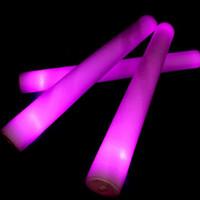 Wholesale Glow Sticks Rave Wholesale - Light Up Multi Color LED Foam Stick Wands Rally Rave Cheer Batons Party Flashing Glow Stick Light Sticks Sale