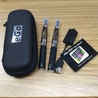 Double eGo-t CE4 Starter Kit E Cigarette 650 eGo t bateria 1.6ml CE4 Clearomizer E Cig Set Zipper Case Kit Várias cores