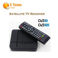 Wholesale Tv Digital Terrestrial Receiver T2 - Wholesale- Full HD 1080P DVB-T2 digital terrestrial receiver set-top box with H.264   MPEG-2 4 Compatible with DVB-T for TV HDTV tv box