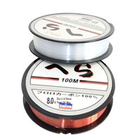 Wholesale river fly - 100M 0.1-0.47mm Fluorocarbon Super Strong Japan Monofilament Nylon Fishing Line 4-32LB Carbon Fiber Leader Line Fly Fishing Line Pesca