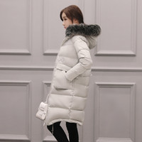 Wholesale Women S Long Snow Coat - Women Winter Long Coats Duck Down Jackets Fur Collar Hooded ThickeningWarm Tops Snow Coats Plus Size S-7XL Outwear Overcoat 6XL