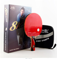 Wholesale finished wood products - double fish 8A-C 7A-C Table tennis rackets . 8 STARS . finished product Table tennis racquet