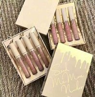 Wholesale Matte Velvet - Newest Hot Kylie Jenner Send Me More Nude 4pcs Set Nude Liquid Lipstick 4 Color Matte and Velvet Lip gloss By Kylie Cosmetics DHL Shipping