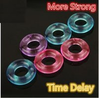 Wholesale Delay Ring Penis - Silicone Flexible Glue Penis Rings wholesale Stay Hard Donuts Beaded Cockrings Delay Cock Rings stretch ring for male