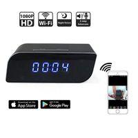 Wholesale Time Clocks Wifi - HD 1080P Wifi Hidden Cameras Alarm Clock Security Cam Motion Detection Wireless IP Camera Mini Spy Camera Real-time Monitoring Nanny Cam
