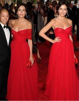 Wholesale Vestidos Noche Cheap - Cheap Long Evening Dresses 2017 New Fashion Vestidos De Noche Sexy Red Tulle Prom Dress Formal Celebrity Gowns