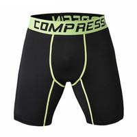 xs tayt toptan satış-Toptan Satış - Yeni Koşu Spor Erkek Basketbol Sıkı Sıkıştırma Şort Gym Fitness Giyim Eğitim Esneklik Kısa Pantolon Homme Erkekler