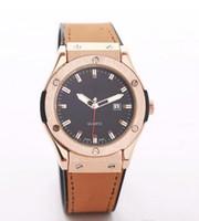 Wholesale 38mm Watch Dial - Watches men's Leatherwear watchband Watches Stainless Steel Dial quartz Watches 38mm 565.NX.1170.LR Men's Sport WristWatches