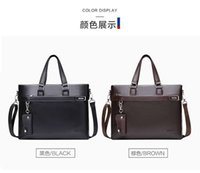 Wholesale Cheap Designer Travel Bags - Cheap Fashion Real Leather Shoulder Business Bag For Man Travel Designer Handbags The Best Gift Backpacks High Quality Men's Computer Bags