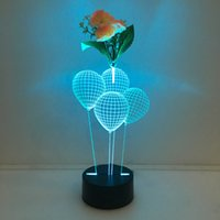 3D Ballon Illusion Lamp Night Light avec Flower DC 5V USB Chargeur AA Battery Wholesale Dropshipping Expédition gratuite Retail Box