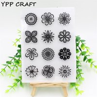 Wholesale New Scrapbooking Supplies - Wholesale- YPP CRAFT New Flowers Transparent Clear Silicone Stamps for DIY Scrapbooking Card Making Kids Crafts Fun Decoration Supplies