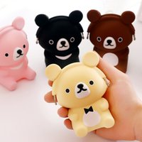 Wholesale Silicone Shaped Oval - Wholesale- 2017 new cartoon dog shape portable cute lovely candy color coin purse silicone mini coin bag key wallets children lady purse