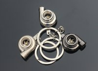Wholesale Hot Auto Part Real Whistle Sound Turbo Keychain Spinning Turbine Ring Keyring Gift