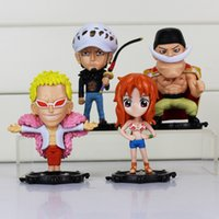 4pcs / lot One Piece Figures Trafalgar Law Edward Newgate Doflamingo Sexy Nami Figure Action Modèle Jouets