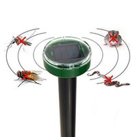 Wholesale Solar Snake Repeller - Eco-Friendly Solar Powered Animal Repeller Ultrasonic Expulsion Device for Mole Snake Mouse Expeller Pest Reject Control