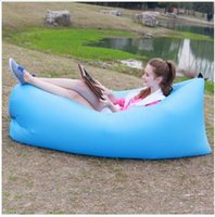 Wholesale Inflatable Boats Free Shipping - Outdoor Sleeping Bed Camping Beach Inflatable Air Sleeping Bag Portable Sofa Hangout Lounger Air Boat Air Lazy Sofa Inflate Free Shipping