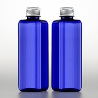 Wholesale Empty Plastic Bottles For Shampoo - 100pcs 100ml Empty Plastic blue clear Bottle Aluminum Screw Cap Travel Lotion Container Packaging For Cosmetics Shampoo Perfume Oil