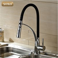 wholesale xoxoblack and chrome finish kitchen sink faucet deck mount pull out dual sprayer nozzle hot cold mixer water taps83013. Interior Design Ideas. Home Design Ideas