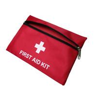 kit de emergencia de supervivencia al por mayor-Precisión Nuevo Equipo de Kits de Emergencia de Primeros Auxilios de Supervivencia Campaña de Caza Paquete de Emergencias Médicas paquete bolsa vacía Color Rojo 20 * 14 cm 1680D paño de Oxford