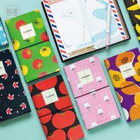Vente en gros - 8 styles Japanese Creative Kawaii Cute Fruit DIY Notebook Leather Bound Journal de voyage Diary Planner Agendas Cadeaux caderno