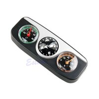 Wholesale Hygrometer Compass - Wholesale-3in1 Guide Ball Car Boat Vehicles Auto Navigation Compass Thermometer Hygrometer
