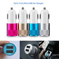 Wholesale Ipad Wall Charger Uk - Best Metal Dual USB Port car wall charger Universal 5 V 1 ~ 2.1A iphone wireless chargers for smartphone Apple iPhone iPad  Samsung Galaxy