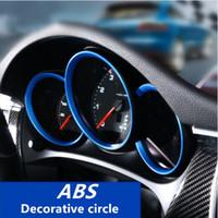 Wholesale Porsche Stickers - Interior Dashboard Instrument Decorative Circle Oil Dial Tachometer Trim Sequins For Porsche Macan Cayenne Panamera Maycan 911