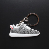 Wholesale Doubled Ring - Double box link 5usd 10pcs lots 350 Boost Keychain Mix Color new Sneaker Key Chain Kids Key Rings Key Holder Llaveros Chaveiro Porte Clef