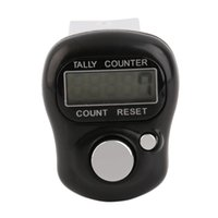 Wholesale Rowing Equipment - Wholesale- 1pc Mini Digit LCD Electronic Digital Golf Finger Hand Held Tally Row Counter Tactical Counting Equipment in Prayer Walk Golf