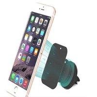 elma araba telefonu tutacağı toptan satış-360 Derece Yeni Stil Evrensel Manyetik Tutucu Araç telefonu için Akıllı Telefon Cep Telefonu için Hava Firar Montaj Tutucu Samsung