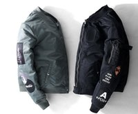 Wholesale Men S Pilot Fur - Spring New MA1 bomber jacket nasa Pilot Jacket Men's Embroidered Baseball Jackets Men & Women Couples kanye west jacket High Quality